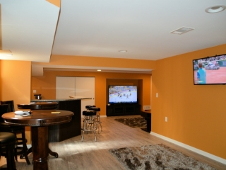 New Finished Basement in Upper Arlington